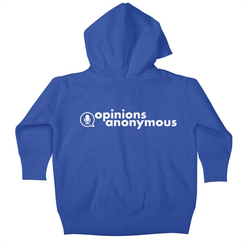 Opinions Anonymous (White Logo) Kids Baby Zip-Up Hoody by Opinions Anonymous