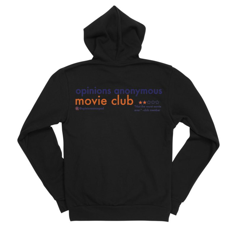 Movie Club Men's Sponge Fleece Zip-Up Hoody by Opinions Anonymous