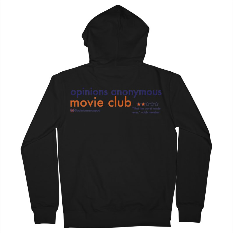Movie Club Women's French Terry Zip-Up Hoody by Opinions Anonymous