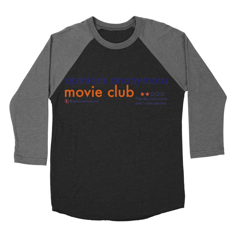Movie Club Men's Baseball Triblend Longsleeve T-Shirt by Opinions Anonymous
