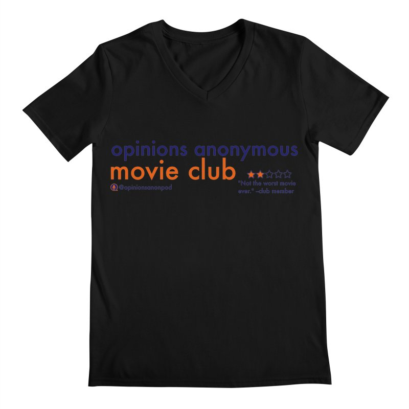 Movie Club Men's Regular V-Neck by Opinions Anonymous