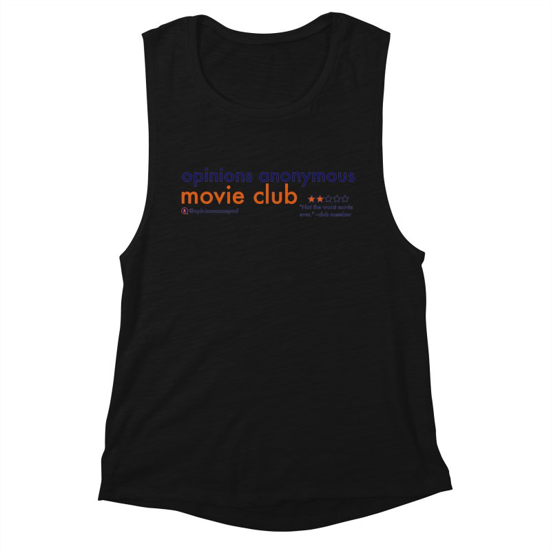 Movie Club Women's Muscle Tank by Opinions Anonymous