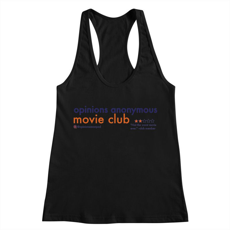 Movie Club Women's Racerback Tank by Opinions Anonymous