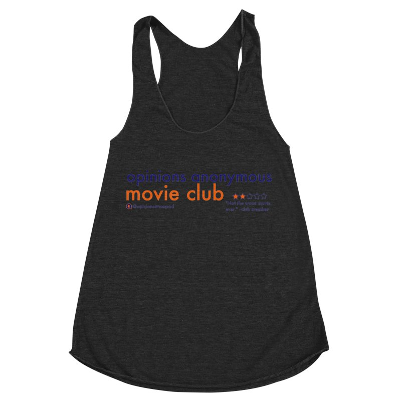 Movie Club Women's Racerback Triblend Tank by Opinions Anonymous