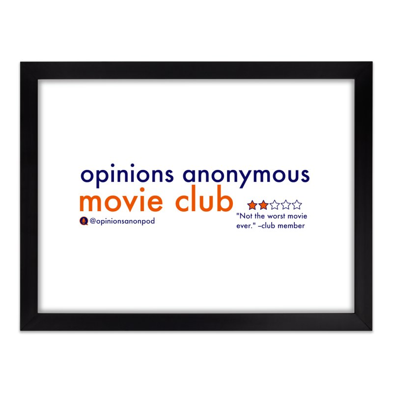 Movie Club Home Framed Fine Art Print by Opinions Anonymous