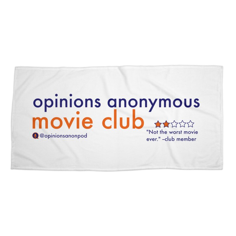 Movie Club Accessories Beach Towel by Opinions Anonymous