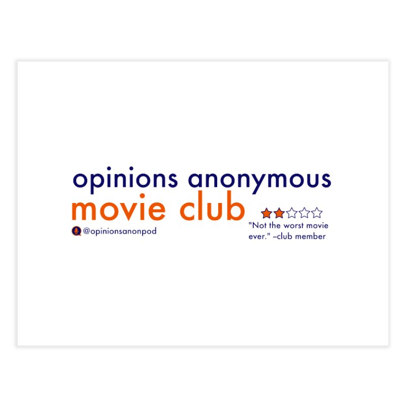 Movie Club Home Fine Art Print by Opinions Anonymous