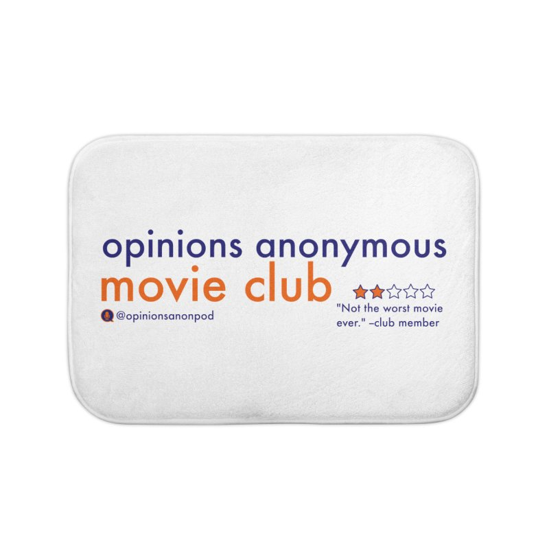 Movie Club Home Bath Mat by Opinions Anonymous