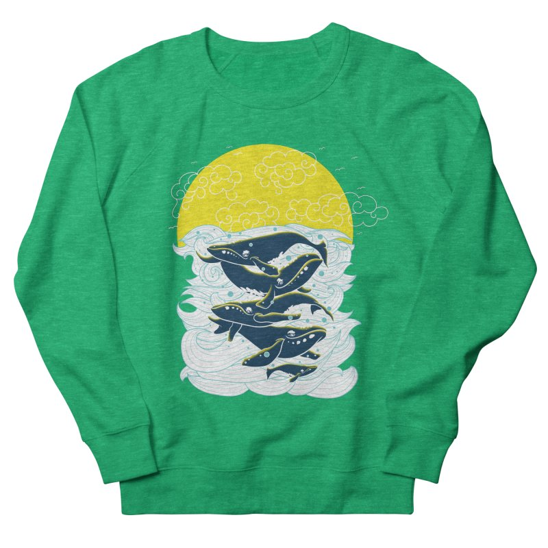 The Ballad of the Whales Women's French Terry Sweatshirt by Opippi
