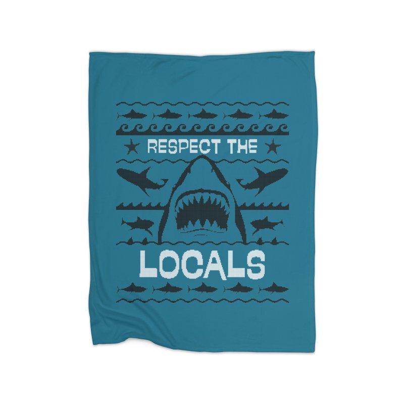 Respect locals Home Fleece Blanket Blanket by Opippi