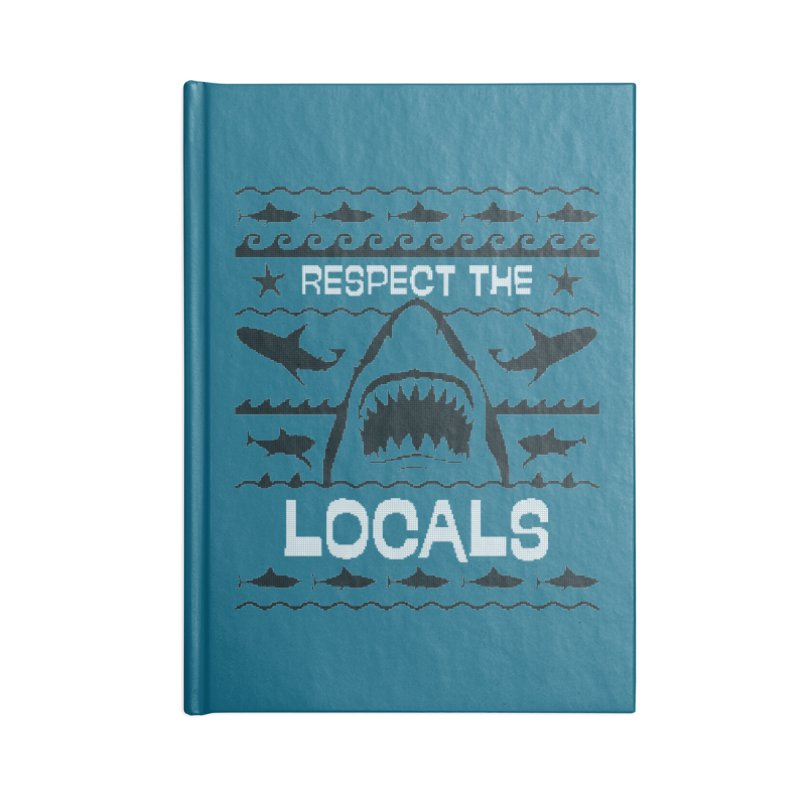 Respect locals Accessories Blank Journal Notebook by Opippi