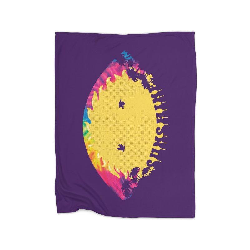 Gooday Sunshine Home Fleece Blanket Blanket by Opippi