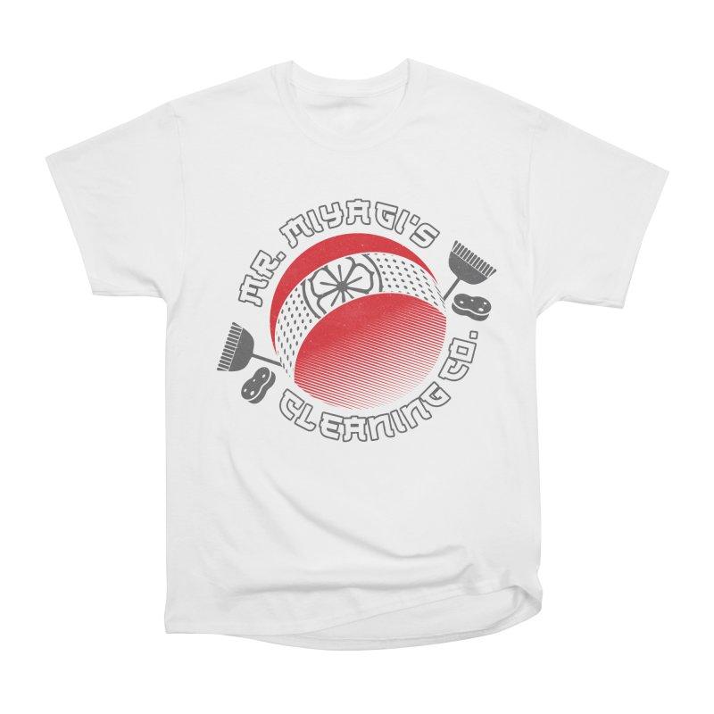 Mr. Miyagi's Cleanning Co Men's Heavyweight T-Shirt by Opippi