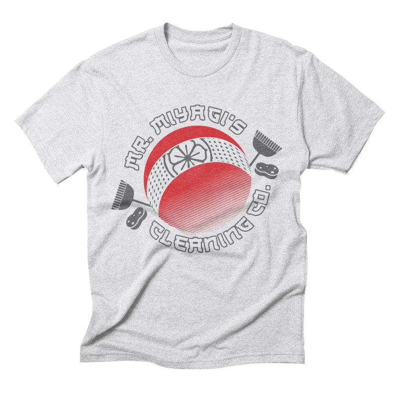 Mr. Miyagi's Cleanning Co Men's Triblend T-Shirt by Opippi