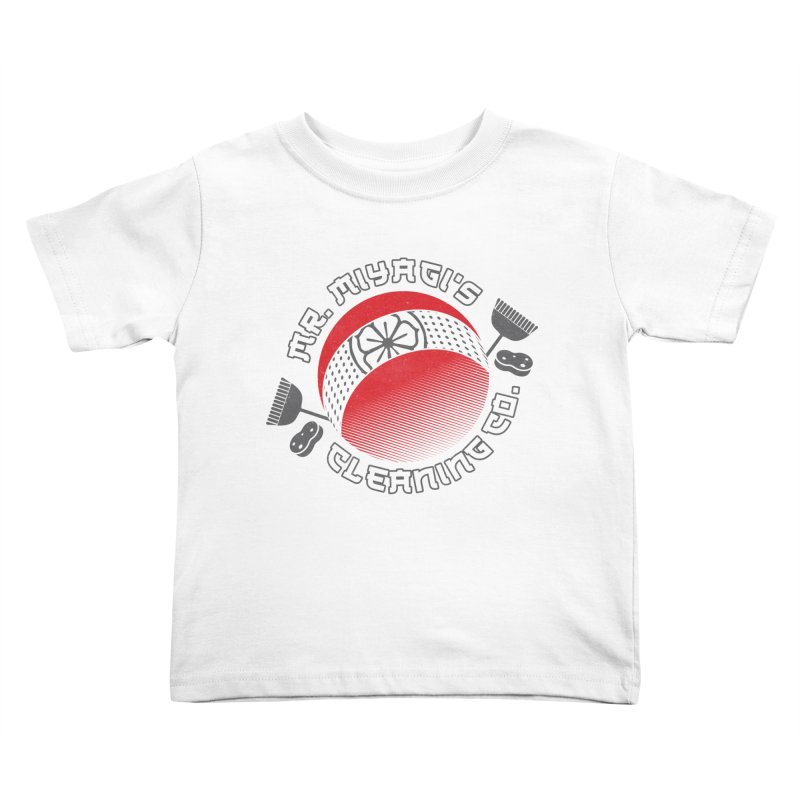 Mr. Miyagi's Cleanning Co Kids Toddler T-Shirt by Opippi