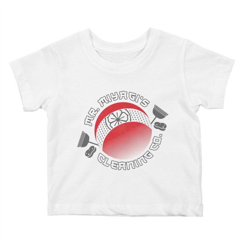 Mr. Miyagi's Cleanning Co Kids Baby T-Shirt by Opippi