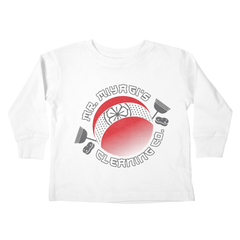 Mr. Miyagi's Cleanning Co Kids Toddler Longsleeve T-Shirt by Opippi