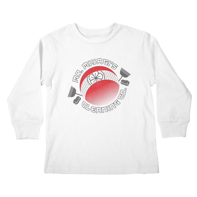 Mr. Miyagi's Cleanning Co Kids Longsleeve T-Shirt by Opippi