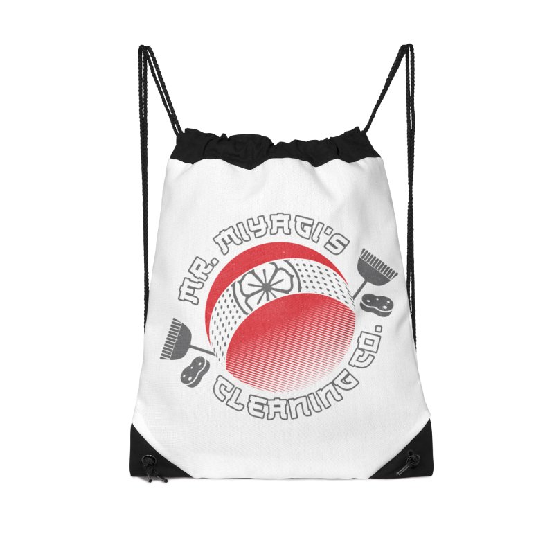 Mr. Miyagi's Cleanning Co Accessories Drawstring Bag Bag by Opippi