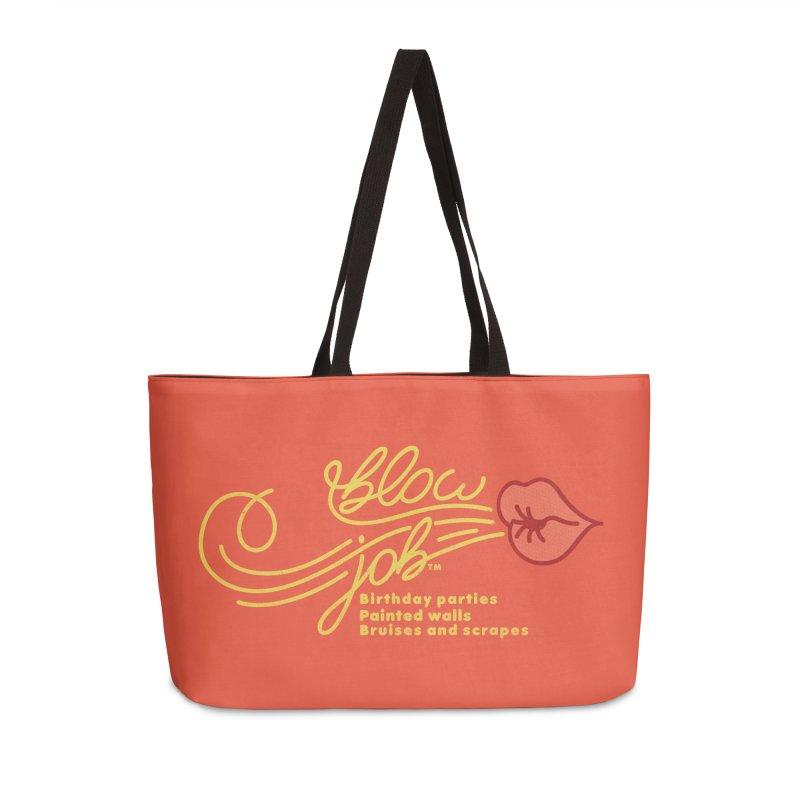 Blow Job Accessories Weekender Bag Bag by Opippi