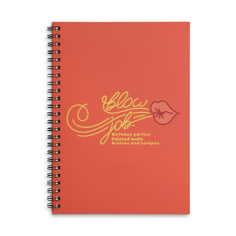 Blow Job Accessories Lined Spiral Notebook by Opippi