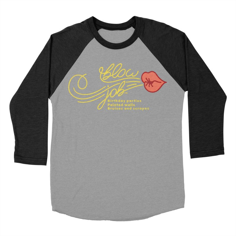 Blow Job Women's Baseball Triblend Longsleeve T-Shirt by Opippi