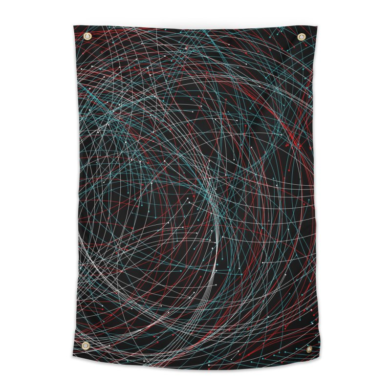 Circle Drops Home Tapestry by Opippi