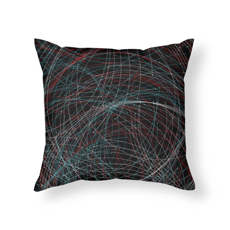 Circle Drops Home Throw Pillow by Opippi