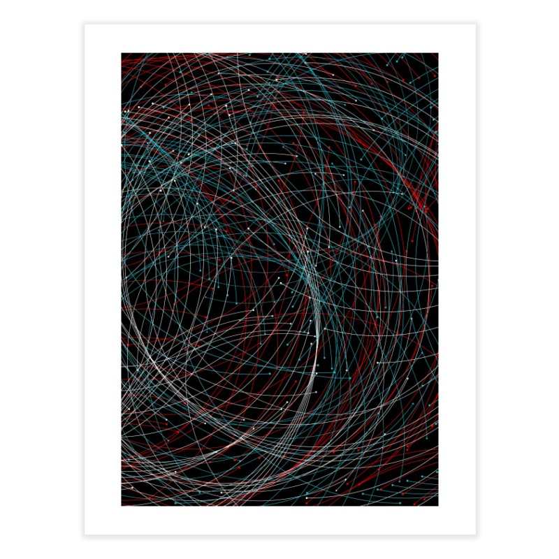 Circle Drops Home Fine Art Print by Opippi