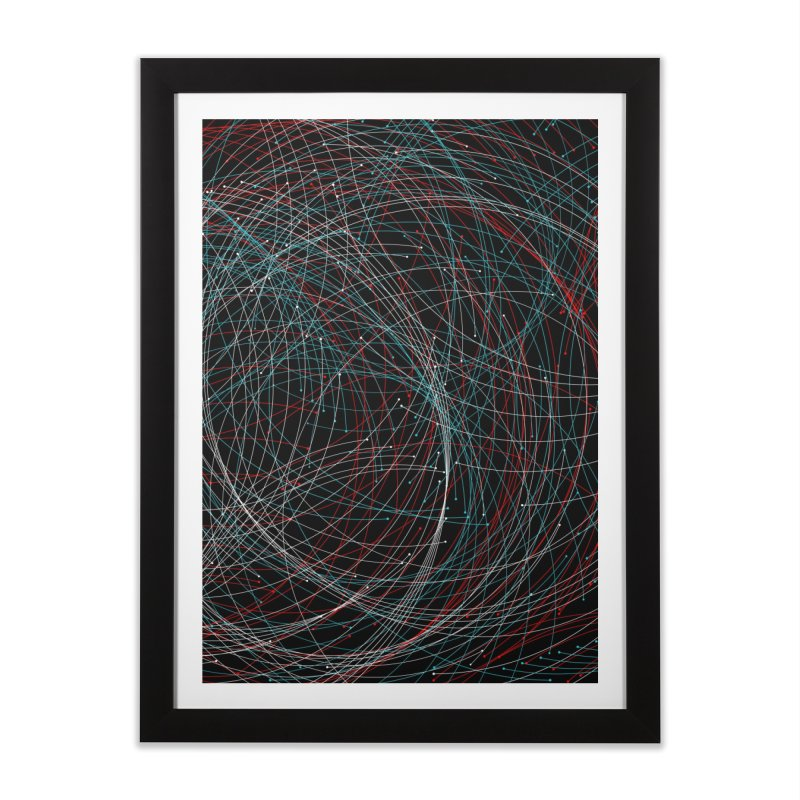 Circle Drops Home Framed Fine Art Print by Opippi