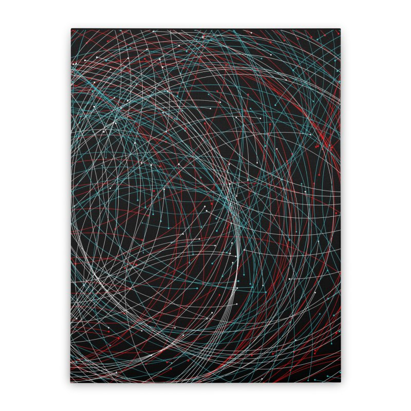Circle Drops Home Stretched Canvas by Opippi
