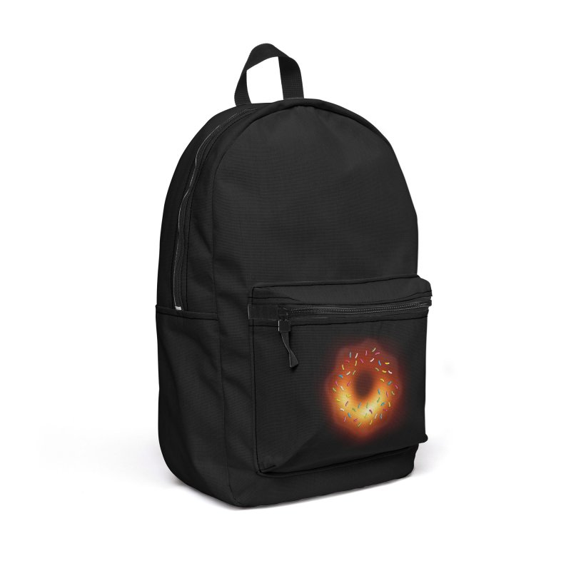 Black Hole Donut Accessories Backpack Bag by Opippi
