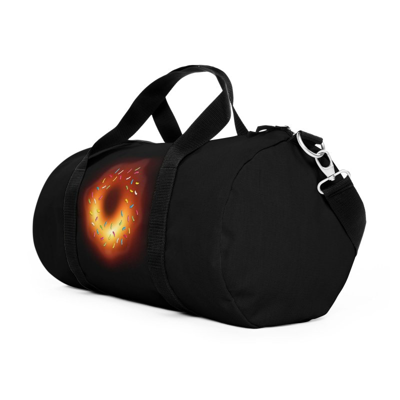 Black Hole Donut Accessories Duffel Bag Bag by Opippi