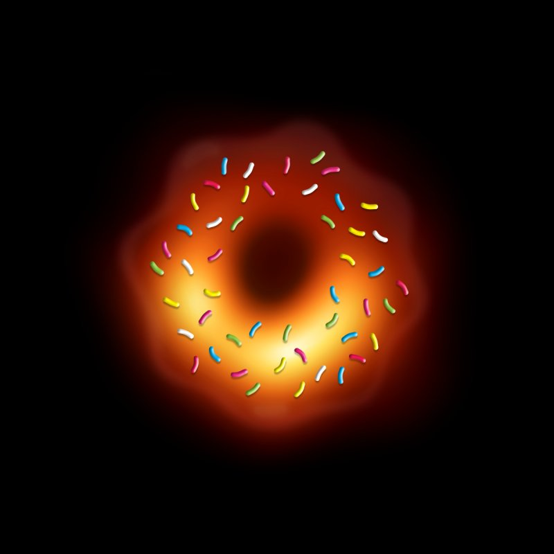 Black Hole Donut Home Fine Art Print by Opippi