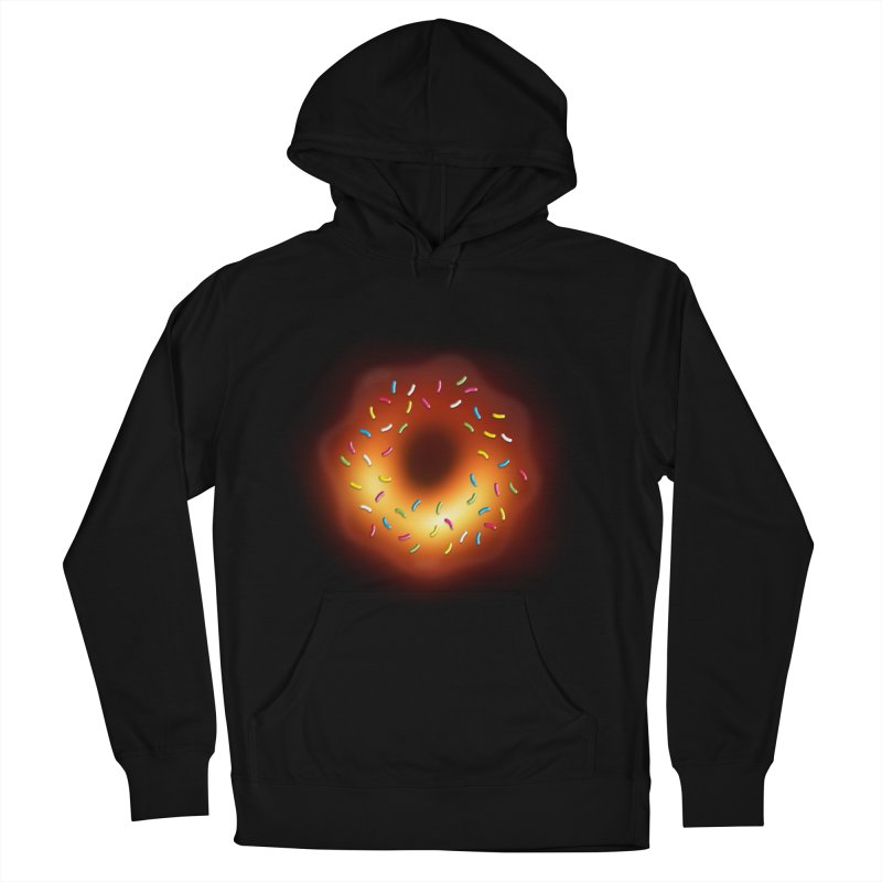 Black Hole Donut Men's French Terry Pullover Hoody by Opippi