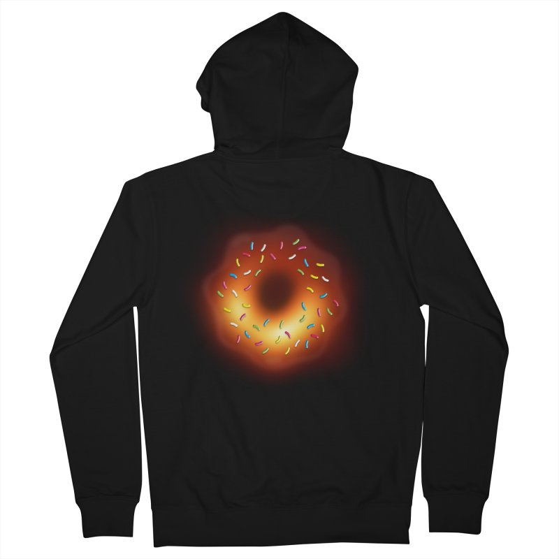 Black Hole Donut Men's French Terry Zip-Up Hoody by Opippi