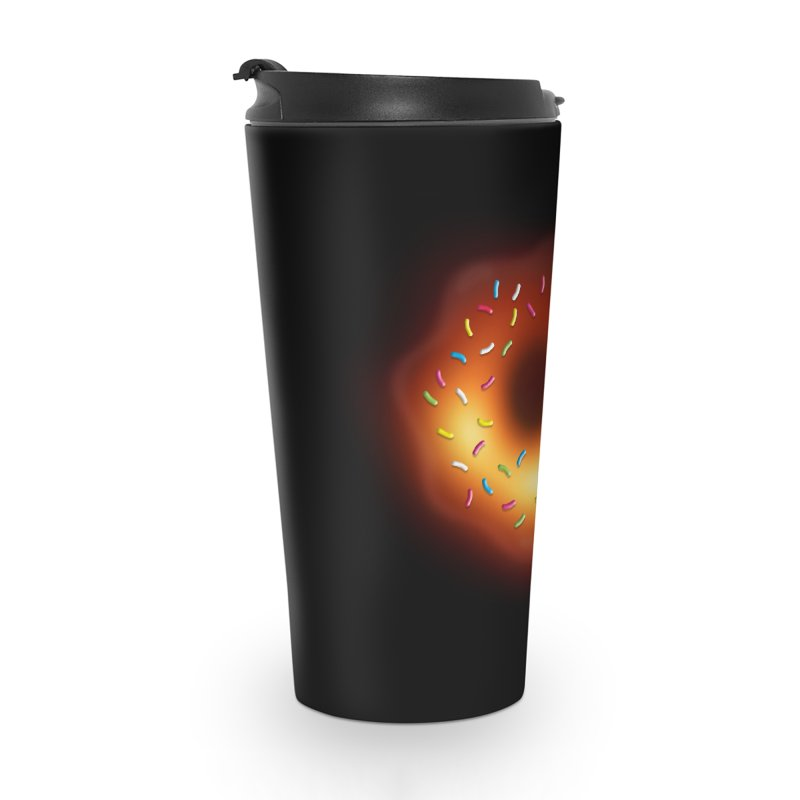 Black Hole Donut Accessories Travel Mug by Opippi