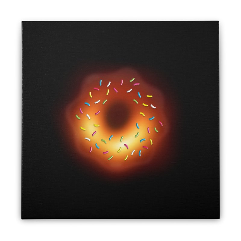 Black Hole Donut Home Stretched Canvas by Opippi