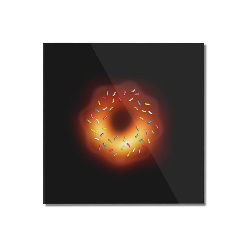 Black Hole Donut Home Mounted Acrylic Print by Opippi