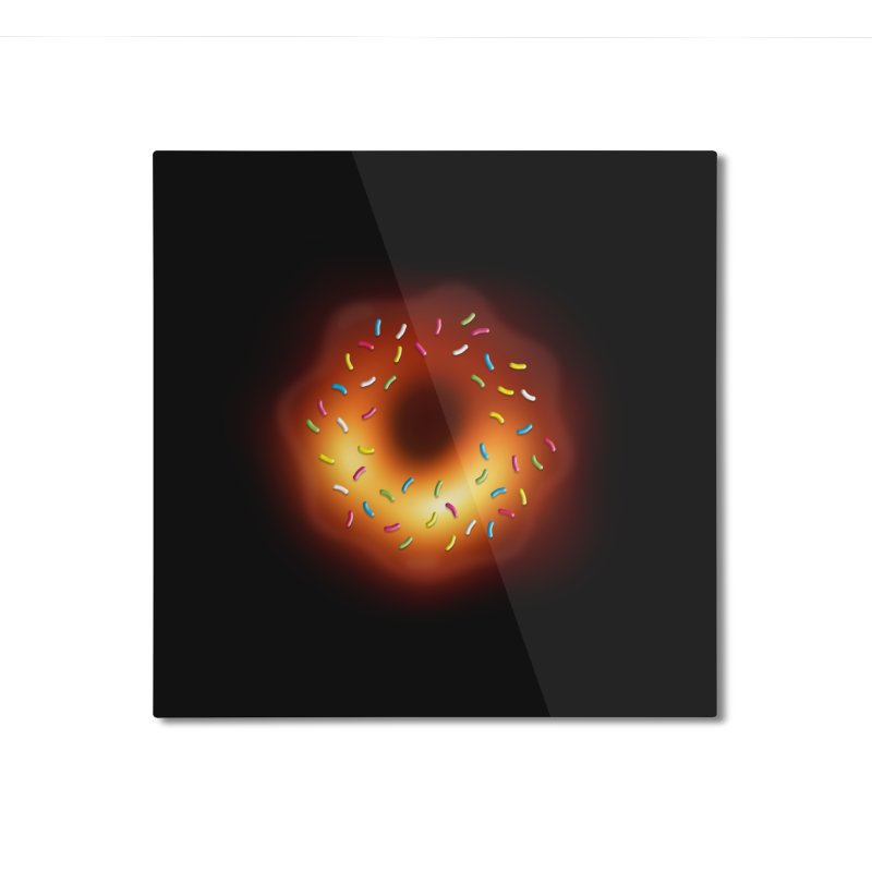 Black Hole Donut Home Mounted Aluminum Print by Opippi