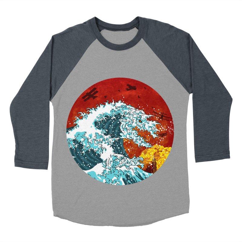 Wavezilla Women's Baseball Triblend Longsleeve T-Shirt by Opippi
