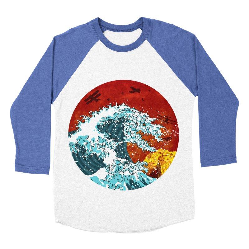 Wavezilla Men's Baseball Triblend Longsleeve T-Shirt by Opippi