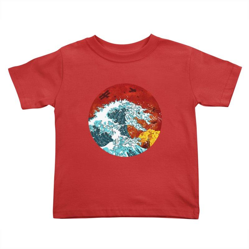 Wavezilla Kids Toddler T-Shirt by Opippi