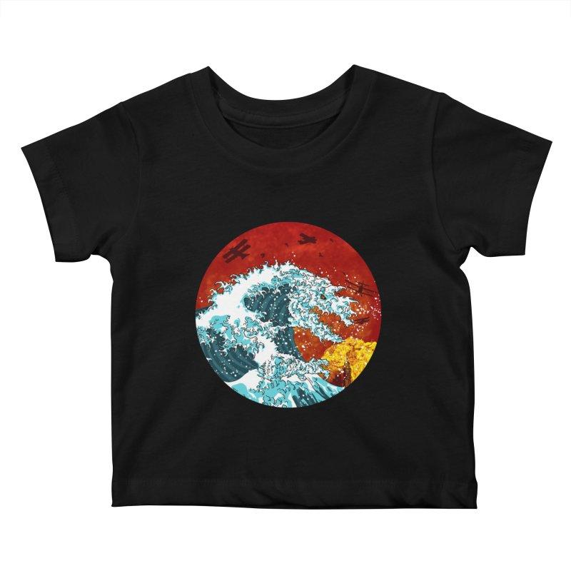 Wavezilla Kids Baby T-Shirt by Opippi