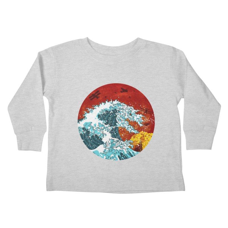Wavezilla Kids Toddler Longsleeve T-Shirt by Opippi