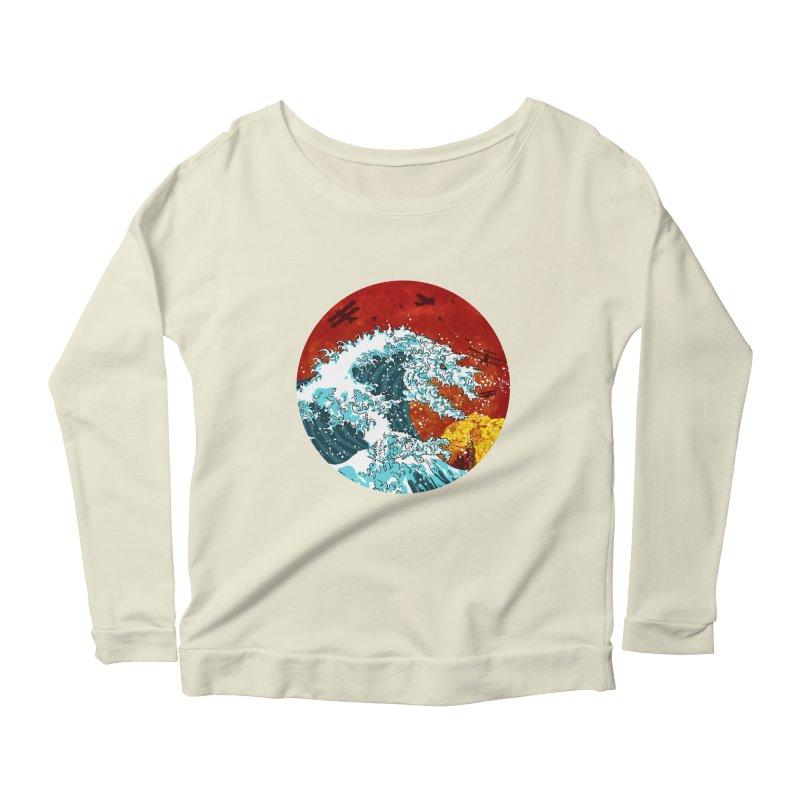 Wavezilla Women's Scoop Neck Longsleeve T-Shirt by Opippi