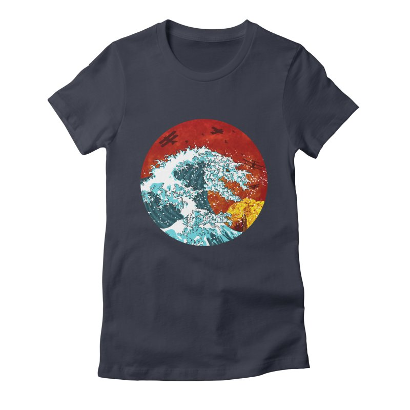 Wavezilla Women's Fitted T-Shirt by Opippi