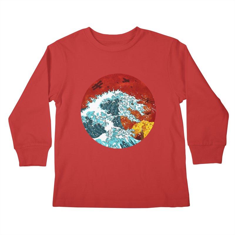 Wavezilla Kids Longsleeve T-Shirt by Opippi