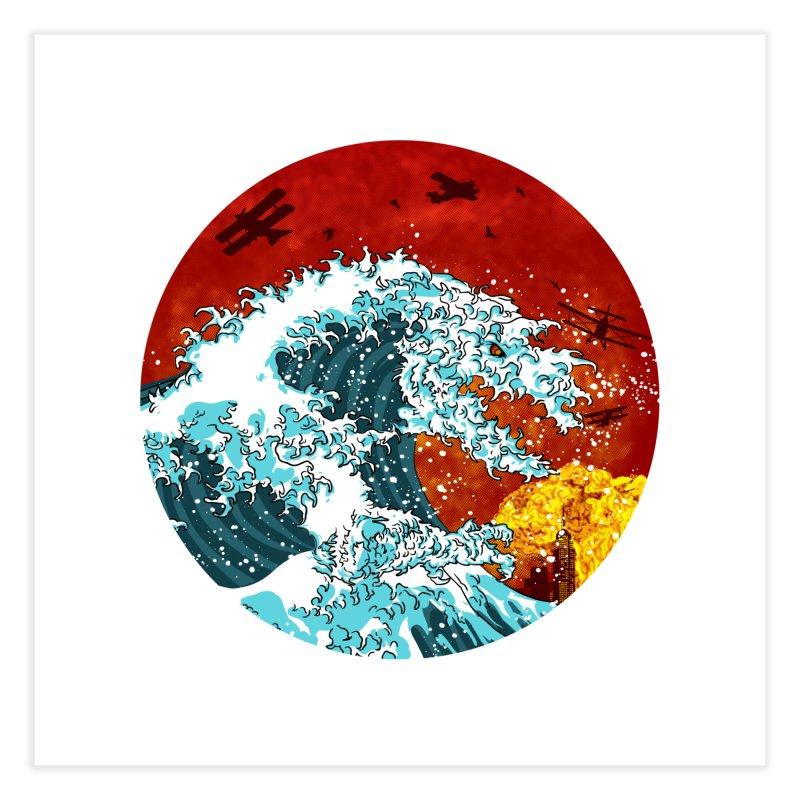 Wavezilla Home Fine Art Print by Opippi