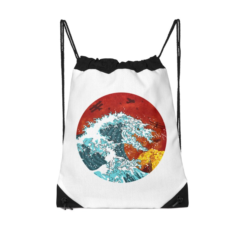Wavezilla Accessories Drawstring Bag Bag by Opippi